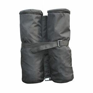 Outsunny Lot 4 Sacs de Lestage de Fixation pour Tonnelle Parasol Pavillon Noir