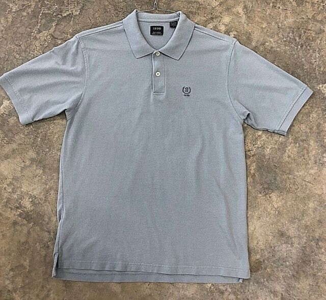IZOD Silk Wash 100% Cotton Polo Shirt ~ L