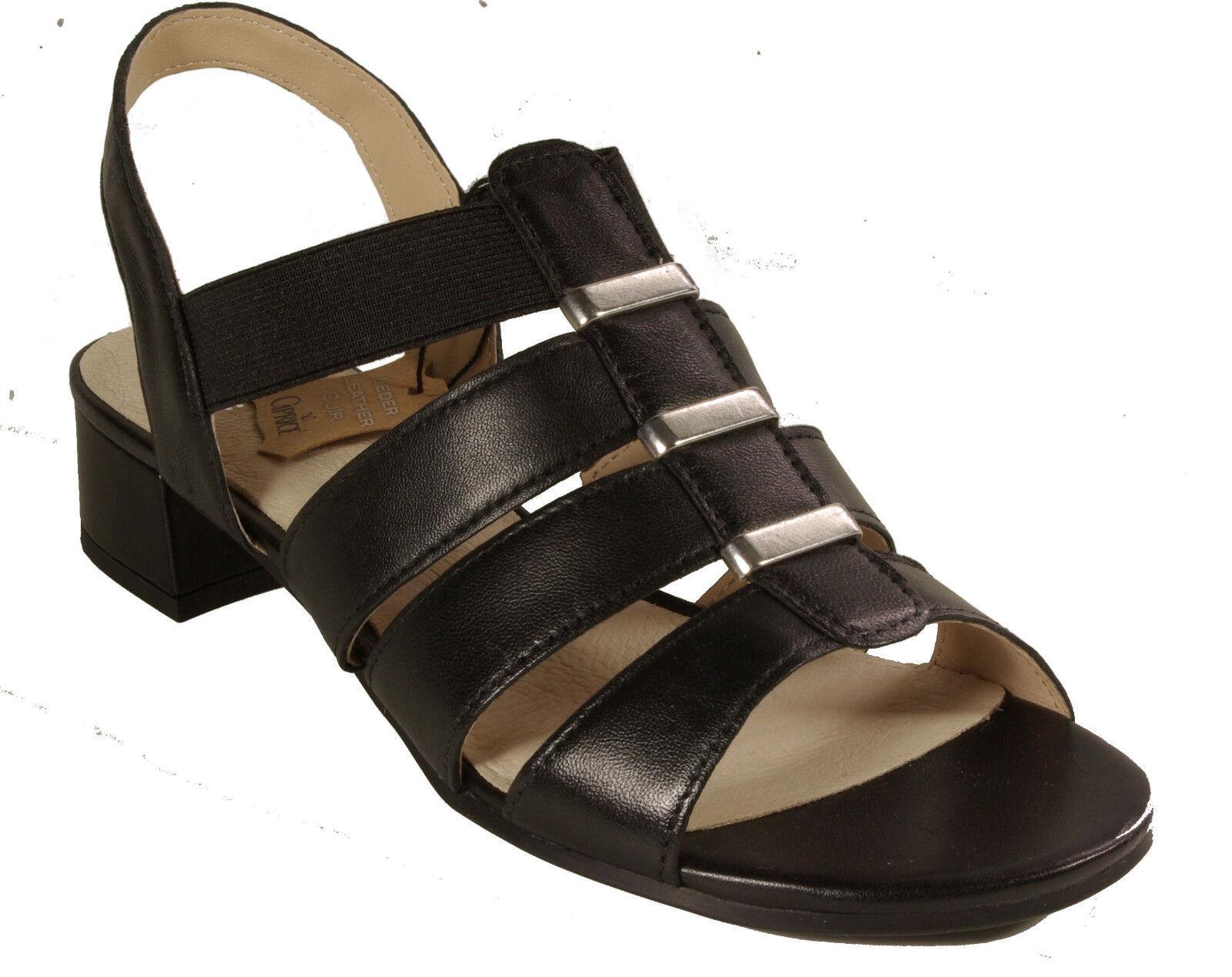 CAPRICE Schuhe Sandale Sandaleetten schwarz echt Leder NEU