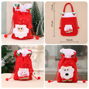 Fj-Cn-1PC-Babbo-Natale-Pupazzo-di-Neve-Regalo-Candy-Apple-Panno-Borsa-Decor