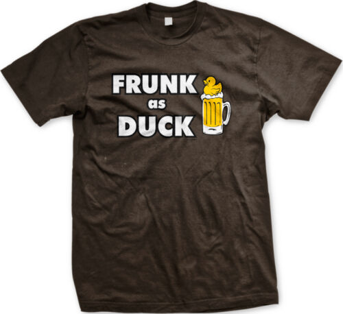 Frunk As Duck Beer Glass Drunk Drinking Alcohol Funny Mens T-shirt