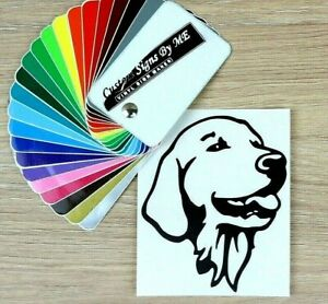 Golden-Retriever-Dog-Sticker-Vinyl-Decal-Adhesive-Wall-Car-Window-Bumper-Laptop