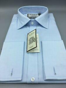 Royal Oxford Shirt RRP:£115 UK:16.5 D//Cuff Blue Thomas Pink BNWT EU:42