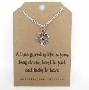 True-Friends-Are-Like-a-Four-Leaf-Clover-Necklace-Message-Card-Friendship-Gift