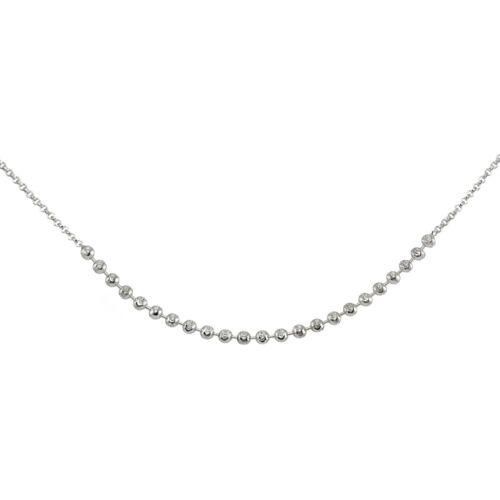 Italien Chaîne Avec Facettes Perles Collier Tour de cou en argent sterling