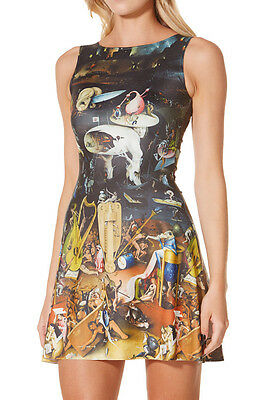 Hell Garden of Earthly Delights Bosch Reversible Shiny Stretchy One Piece Dress