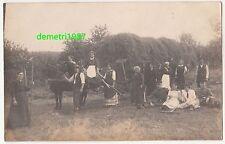 Foto Ak Heu - Ernte Bauer Landwirtschaft Pferdewagen Arbeiter Knechte Pforzheim