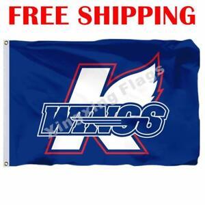 Kalamazoo-Wings-Logo-Flag-ECHL-Hockey-League-2019-Banner-3X5-ft