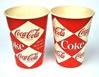 COCA-COLA Vasos EE.UU. década de 1950 HASTA AÑOS 90 - PEPSI Mello COKE Cups