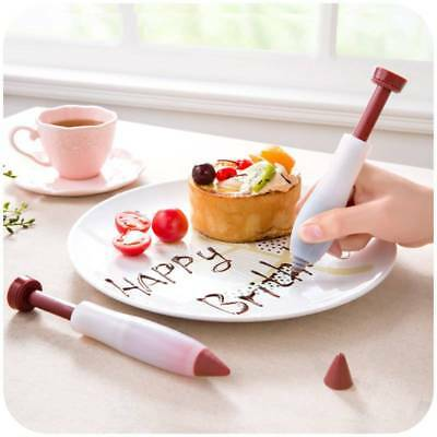 Silicone Fondant Cake Pen Pastry Icing Writing Syringe Baking Decor DIY Tools