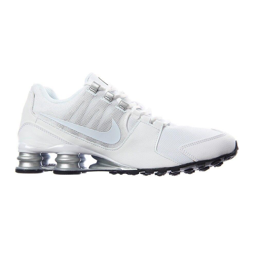 NEW Nike Shox Avenue White Metallic Silver Running Shoes 833583-101 Mens sz 7.5