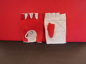 FINGERLESS-GLOVES-PALM-IS-WHITE-LEATHER-BACK-IS-RED-TOWELLING-XL-NEW