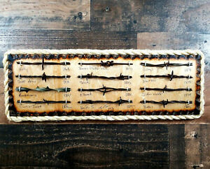 Antique Barbed Wire Display Authentic Barbwire Collection