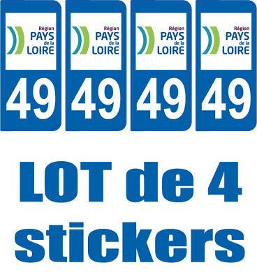 4 Stickers Plaque Immatriculation Departement 49 Region Pays De La Loire Possedere Sapori Cinesi