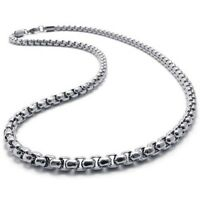"USA Seller 2mm-5mm 16""-40"" Silver Stainless Steel Square Rolo Necklace Chain"