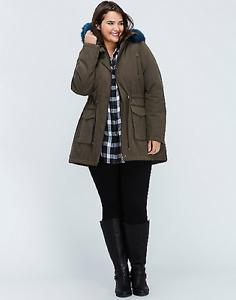 Lane-Bryant-Fur-Trimmed-Parka-14-16-18-20-22-24-26-28-Winter-Jacket-1x-2x-3x-4x
