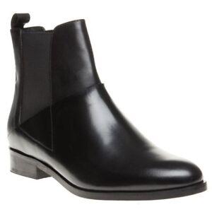 da pelle Nuovi alla nera donna con caviglia elastico in stivali Elsie qIww5F