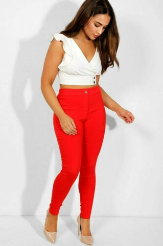 KUL CLOTHING RED SKINNY STRETCH ANKLE GRAZER TROUSERS 12;14;16;18 All items £5