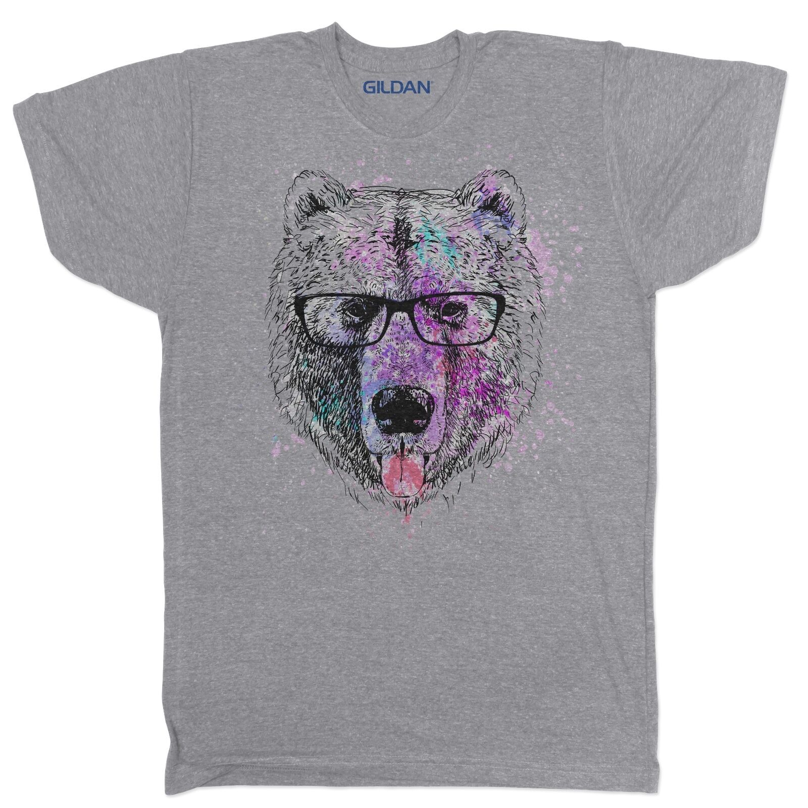 fa46befb24ad ABSTRACT BEAR ANIMAL COOL FUNNY TUMBLR URBAN VEGAN FASHION FESTIVAL T SHIRT  Gift Print T-shirt,Hip Hop Tee Shirt,NEW ARRIVAL tees