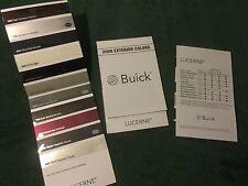 MINT 2009 BUICK LUCERNE EXTERIOR COLORS CHART DEALER SALES BROCHURE (NH)