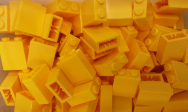 *NEW* Lego Yellow 2x3x1 Tall Bricks for Houses Walls pillars Buildings 20 pieces