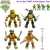 4 Stück Junge Mutant Ninja Turtles TMNT Action-Figuren-Sammlung Spielzeug 12cm