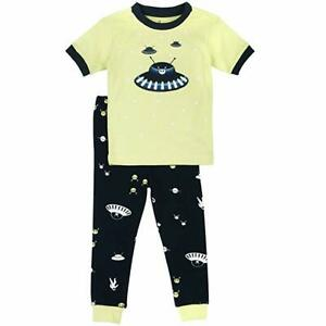 Carter/'s Boys Glow-In-The-Dark Space Ship and Stars Cotton Footed Pajama Sleeper