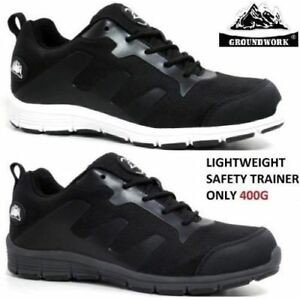 WOMENS LADIES  MENS  ULTRA LIGHTWEIGHT STEEL TOE CAP SAFETY TRAINER SHOES