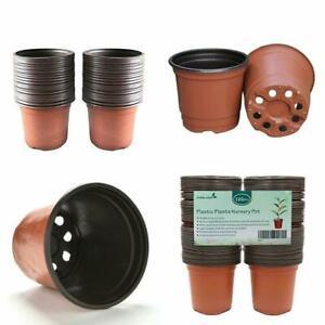 """100 Pcs 4"""" Plant Pots Jardin Pépinière Plastique Pot De Fleur Conteneurs Petit Outdoor-afficher Le Titre D'origine Prix ModéRé"""
