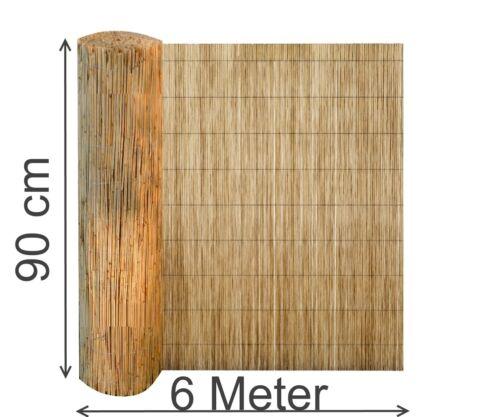 Sichtschutz 600 cm lang aus Schilfrohr Wind-schutz Schilfrohr-matte Schilfmatte