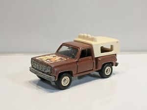 VINTAGE-TOMY-TOMICA-NO-F44-BROWN-CHEVROLET-TRUCK-PICKUP-MADE-IN-JAPAN