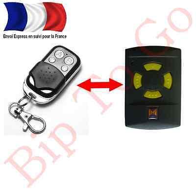 Télécommande compatible Hormann hsm2 ou hsm4 touche jaune livraison rapide