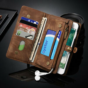 Leather-Removable-Multi-Functional-Zipper-Wallet-Case-Cover-For-iphone-7-8-plus