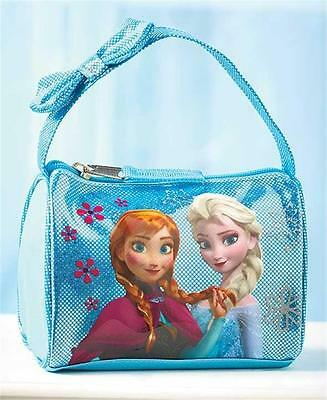 LITTLE GIRLS' DISNEY FROZEN ELSA AND ANNA EMBELLISHED BARREL STYLE HANDBAG PURSE