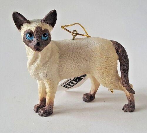 "SIAMESE CAT STANDING ORNAMENT 3/"" 40057"