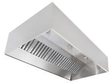Commercial Kitchen Stainless Steel Exhaust Hood Fan Amp Pitched Roof Curb