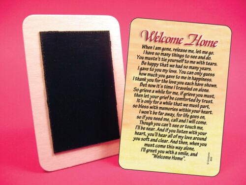 """Fridge Magnet /""""Welcome Home/"""" Poem sku# 809"""