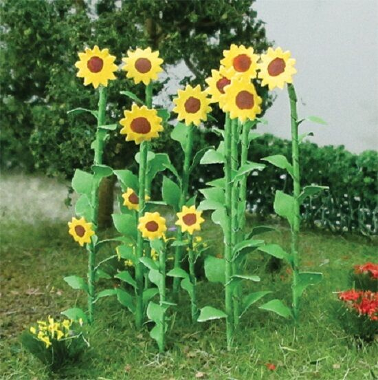 HO Scale Sunflowers 16//pk JTT Scenery Products 95523