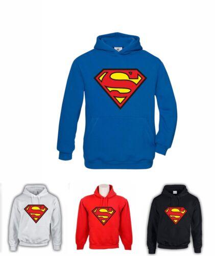 FELPA CON CAPPUCCIO SUPERMAN UNISEX COD142