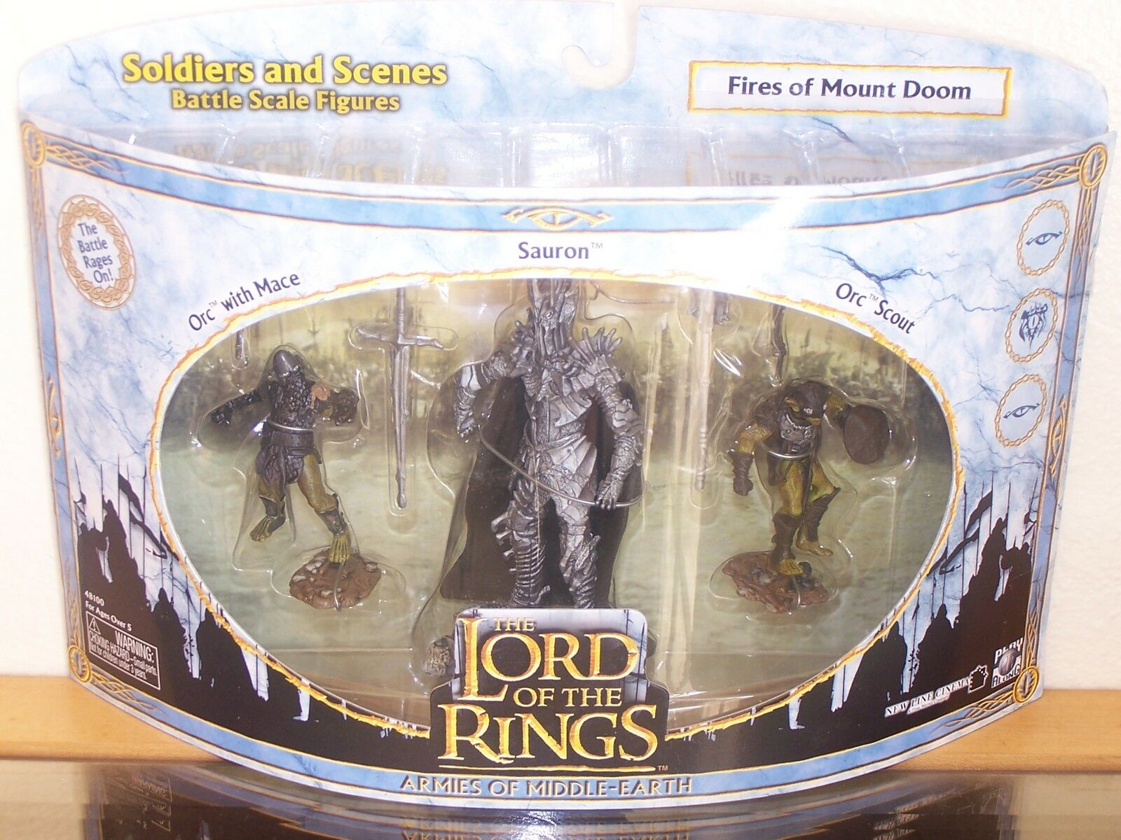 LOTR Lord of the Ring aome  FIRES of MOUNT DOOM  mib vhtf