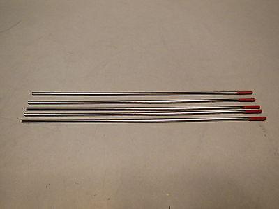 "5 2% Thoriated Tungsten Tig Electrodes .040"" x 7"" - New"