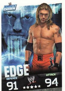Edge Smackdown Card WWE Slam Attax Evolution