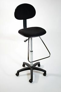 Image Is Loading Black Drafting Counter Height Stool Chair Art Bank