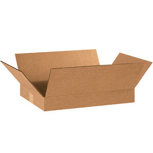 "Box Partners Flat Corrugated Boxes 18"" x 12"" x 2"" Kraft 25/Bundle 18122"