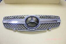 Front Grille Mercedes Benz SL R230 SL500 SL600 SL-Style 03-06 Chrome & Silver
