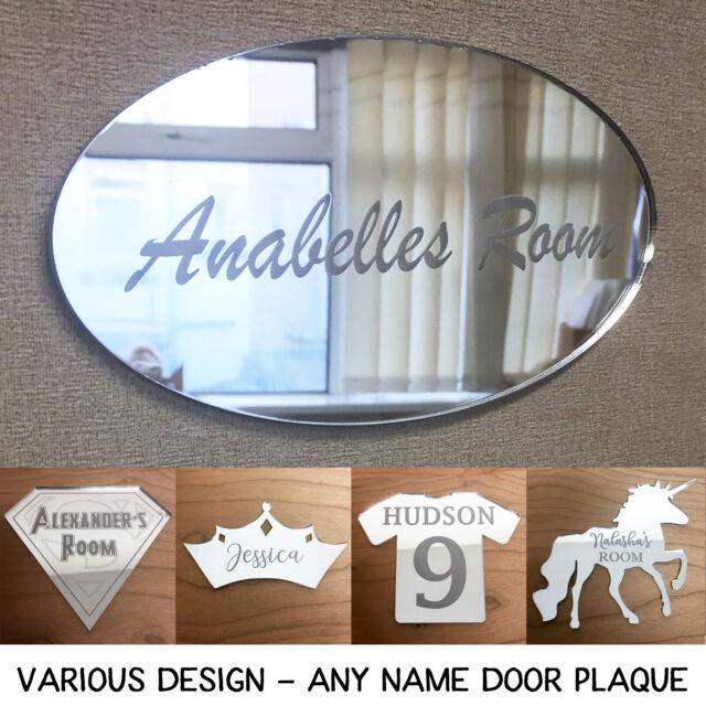 Personalised Unicorn Girl/'s Bedroom Door Sign plaque indoor wooden sign