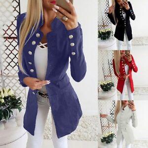 Fashion-Women-OL-Long-Sleeve-Slim-Fit-Blazer-Suit-Jacket-Business-Coat-Outwear