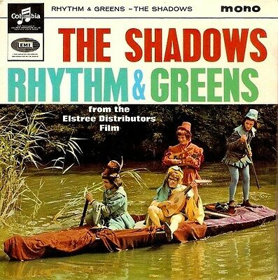 THE SHADOWS Rhythm And Greens EP Vinyl Record 7 Inch Columbia SEG 8362 1964
