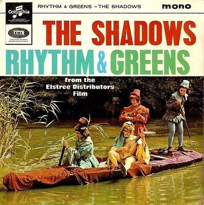 THE SHADOWS Rhythm And Greens EP Vinyl Record 7 Inch Columbia SEG 8362 1964