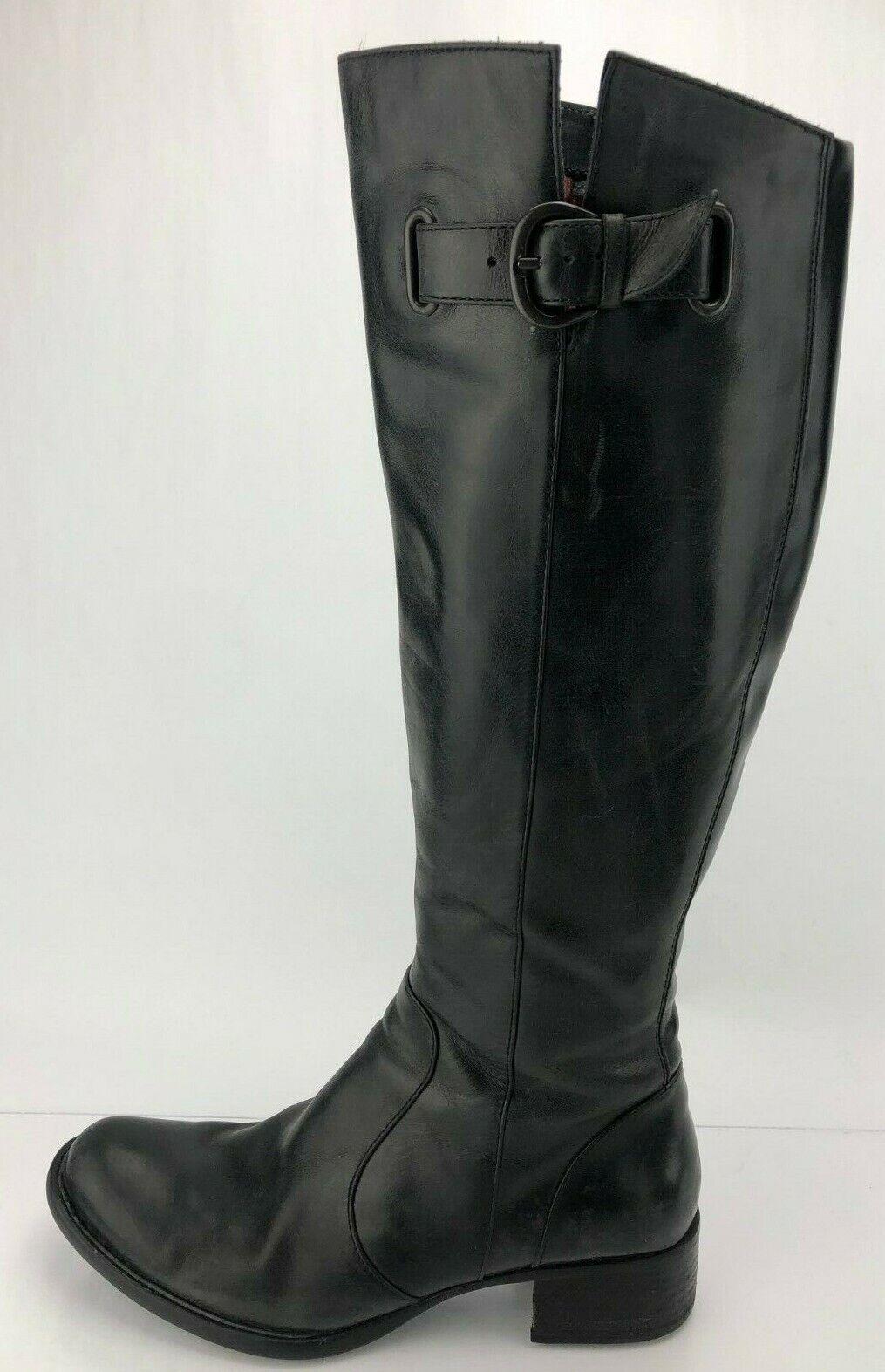 Sconto del 60% Born Crown Crown Crown Knee High stivali Roxie nero Leather Zip Tall Riding scarpe donna 8 M  consegna lampo